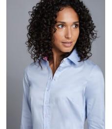 Женская офисная полуприталенная рубашка