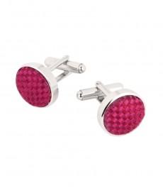 Женские шелковые запонки, розовые, 100% шелк