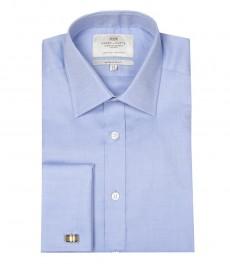 Мужская экстраприталенная рубашка, голубая ткань