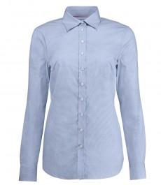 Женская полуприталенная рубашка светло-голубого цвета, ткань с переплетением, коллекция Executive - 2-х слойный хлопок 100s