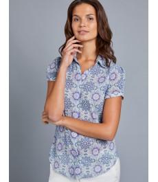 Женская полуприталенная английская рубашка