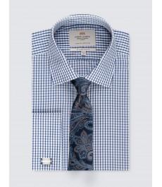 Мужская офисная приталенная рубашка St James, под запонку