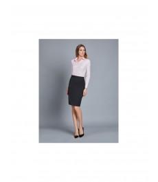 Тёмно-серая твиловая юбка-карандаш стрейч
