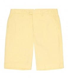 Мужские хлопковые шорты, желтые