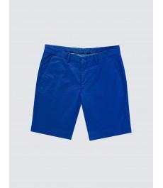Мужские зелёно-синие хлопковые шорты-слаксы