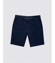 Мужские тёмно-синие хлопковые шорты-слаксы
