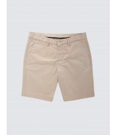 Мужские бежевые хлопковые шорты-слаксы