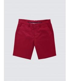 Мужские красные хлопковые шорты-слаксы