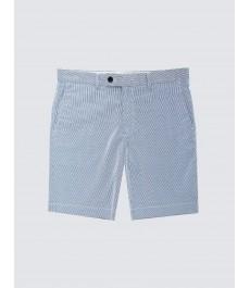 Мужские хлопковые шорты-слаксы в белголубые с полоской