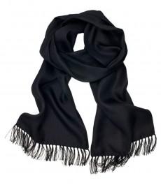 Мужской черный шелковый шарф