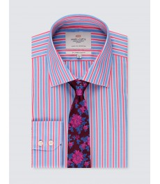 Мужская приталенная рубашка, рукав под пуговицу