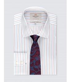 Мужская офисная приталенная рубашка St James, под пуговицу
