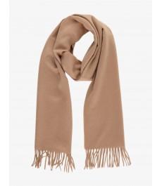 Однотонный бежевый шарф 100% кашемир