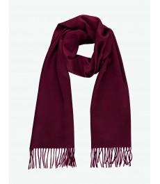 Женский шарф бордо - 100% кашемир