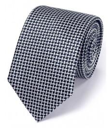 Тёмно-синий шёлковый галстук Charles Tyrwhitt, бриллиантовая решётка