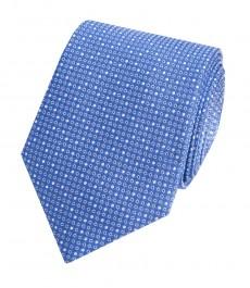 Мужской галстук, голубой в крапинку - 100% шелк