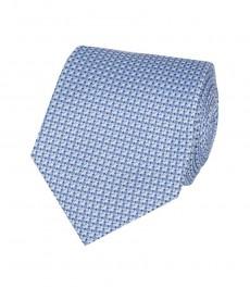 Мужской галстук, голубой, 100% шелк