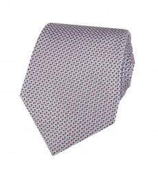 Мужской галстук, светло-розовый, мелкий квадрат - 100% шелк