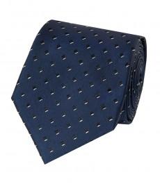 Мужской галстук, темно-синий в квадрат - 100% шелк