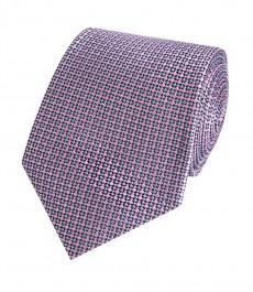 Мужской галстук, розовый, геометрия - 100% шелк