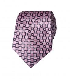 Мужской светло-розовый галстук, геометрический дизайн - 100% шелк
