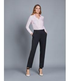 Женские тёмно-серые твиловые брюки