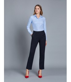 Женские тёмно-синие твиловые брюки