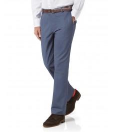 Приталенные хлопковые брюки-слаксы Charles Tyrwhitt, стрейч-коллекция