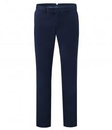 Мужские тёмно-синие приталенные брюки, слаксы