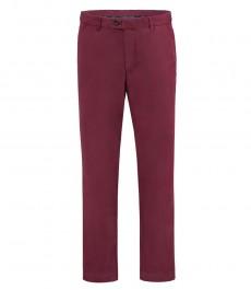 Мужские приталенные брюки, бордовые, хлопок