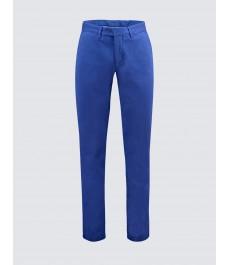 Мужские хлопковые приталенные брюки-слаксы, зелёный цвет