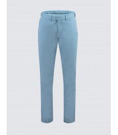 Мужские хлопковые приталенные брюки-слаксы, стильный французский голубой цвет