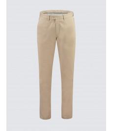 Мужские хлопковые приталенные брюки-слаксы, бежевый цвет