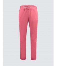 Мужские хлопковые приталенные брюки-слаксы, стильный розовый цвет