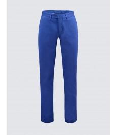 Мужские хлопковые классические брюки-слаксы, синий цвет