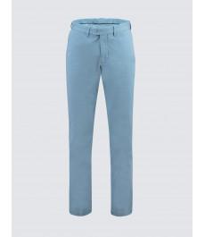 Мужские хлопковые классические брюки-слаксы, стильный французский голубой цвет