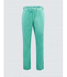 Мужские хлопковые классические брюки-слаксы, зелёного цвета