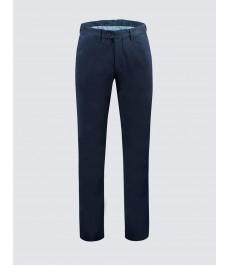 Мужские хлопковые классические брюки-слаксы, тёмно-синего цвета