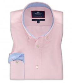 Мужская приталенная рубашка OXFORD, розовая