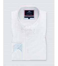 Мужская приталенная рубашка Оксфорд, свободный стиль