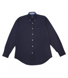Мужская классическая рубашка Оксфорд тёмно-синего цвета