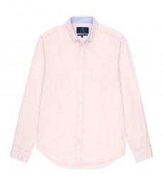 Мужская классическая светло-розовая рубашка Оксфорд