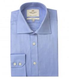 Мужская классическая голубая рубашка ткань