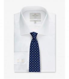 Мужская рубашка белая, классический крой - Манжеты на пуговицах - Легко гладится