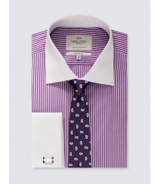 Мужская классическая рубашка, рукав под запонку