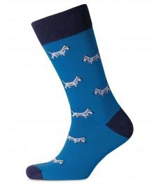 Носки Charles Tyrwhitt голубые с собаками