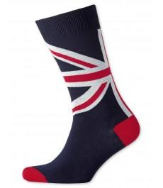 Тёмно-синие носки Charles Tyrwhitt с английским флагом Юнион Джек