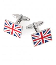 Прямоугольные запонки в виде флага Великобритании Юнион Джек