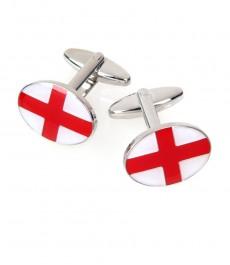 Красные с белым запонки в виде креста Георгия флага Англии