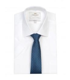 Полуприталенная мужская рубашка Clifford, белая, короткий рукав